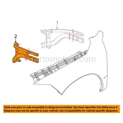 Aftermarket Replacement - RSP-1122L 2009-2018 Ram 1500 Pickup Truck (Extended & Crew Cab) Front Radiator Support Outer Brace Rail Panel Made of Steel Left Driver Side - Image 3
