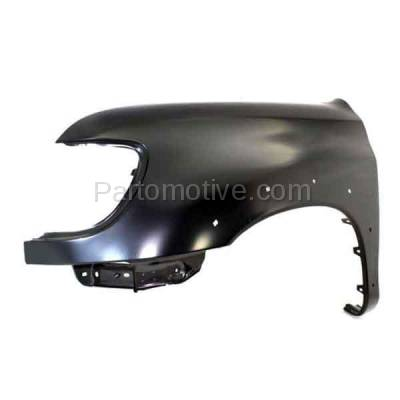 Aftermarket Replacement - FDR-1787L 2000-2006 Toyota Tundra Pickup Truck (excluding Double Crew Cab) Front Fender (with Flare Holes) Primed Steel Left Driver Side - Image 2