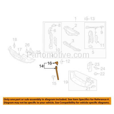 Aftermarket Replacement - RSP-1469 2006-2015 Lexus IS250 & S350 (Base, C, C F Sport) Convertible/Sedan Front Radiator Support Center Hood Latch Lock Support Bracket Steel - Image 3