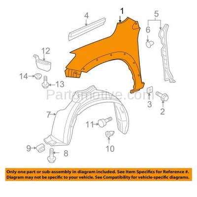 Aftermarket Replacement - FDR-1605RC CAPA 2006-2008 Toyota RAV4 (Japan or North America Built) Front Fender Quarter Panel (with Fender Flare Holes) Steel Right Passenger Side - Image 3