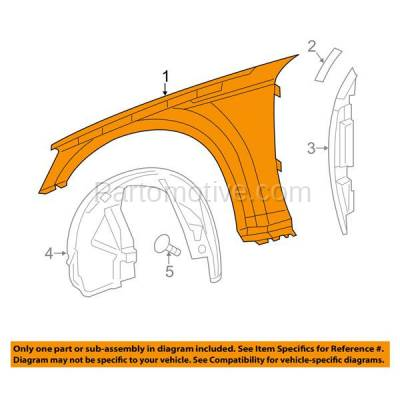 Aftermarket Replacement - FDR-1139LC CAPA 2011-2014 Dodge Charger (Sedan 4-Door) Front Fender Quarter Panel (without Molding Holes) Primed Steel Left Driver Side - Image 3