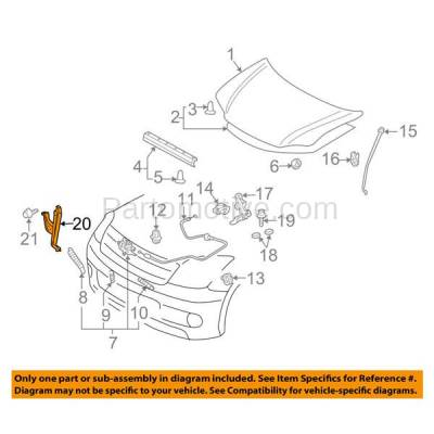 Aftermarket Replacement - RSP-1662 2005-2010 Scion tC (Coupe 2-Door) 2.4L Front Radiator Support Center Hood Latch Lock Support Bracket Brace Panel Primed Made of Steel - Image 3