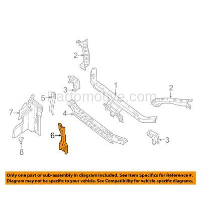 Aftermarket Replacement - RSP-1639 2013-2018 Nissan Sentra (FE+S, FE+SV, S, SL, SR, SV) Sedan 1.8L Radiator Support Center Hood Latch Lock Support Bracket Steel - Image 3