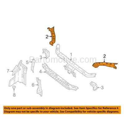 Aftermarket Replacement - RSP-1640L 2013-2018 Nissan Sentra (FE+S, FE+SV, S, SL, SR, SV) Sedan 1.8L Radiator Support Upper Outer Tie Bar Panel Left Driver Side - Image 3