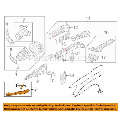 Aftermarket Replacement - RSP-1586L 2011-2018 Mitsubishi Outlander Sport & RVR (2.0 & 2.4 Liter) Front Radiator Support Upper Side Bracket Brace Panel Left Driver Side - Image 3