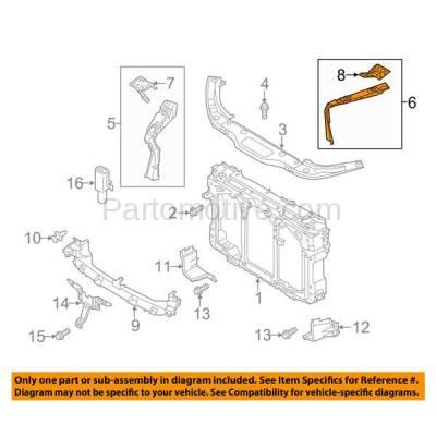 Aftermarket Replacement - RSP-1480L 2013-2016 Mazda CX-5 (2.0 & 2.5 Liter Engine) Radiator Support Side Bracket Brace Support Panel Primed Steel Left Driver Side - Image 3
