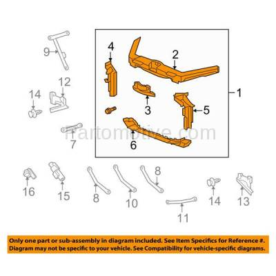 Aftermarket Replacement - RSP-1006 2012-2014 Acura TL 3.5L (Sedan 4-Door) 3.5 Liter V6 Engine (FWD) Front Center Radiator Support Core Assembly Primed Made of Steel - Image 3