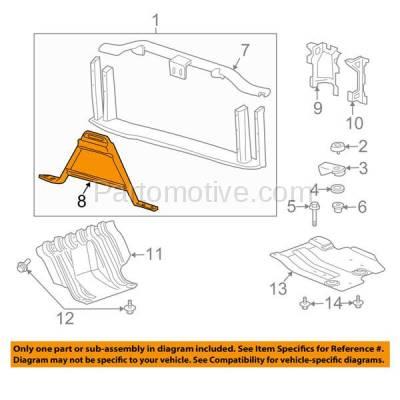 Aftermarket Replacement - RSP-1300 2007-2013 Chevrolet/GMC Silverado/Sierra 1500 Pickup Truck (V6/V8) Front Radiator Support Core Center Brace Primed Made of Steel - Image 3