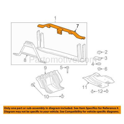 Aftermarket Replacement - RSP-1259 2007-2014 Cadillac Escalade & Chevrolet Avalanche/Suburban/Tahoe & GMC Yukon Front Radiator Support Upper Crossmember Tie Bar - Image 3