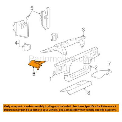 Aftermarket Replacement - RSP-1222R 1998-2002 Lincoln Town Car (Limousine & Sedan) (4.6 Liter V8) Front Radiator Support Lower Bumper Insert Air Deflector Right Passenger Side - Image 3