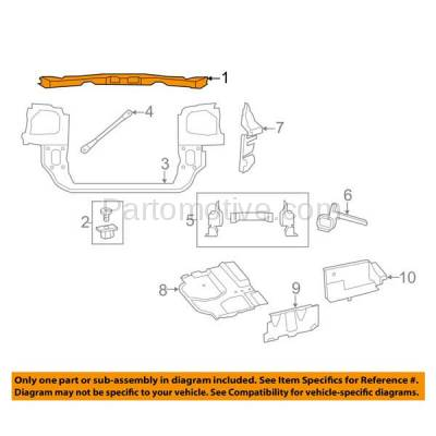 Aftermarket Replacement - RSP-1094 2008-2016 Chrysler Town & Country & 2008-2018 Dodge Grand Caravan Front Radiator Support Core Upper Tie Bar Assembly Primed Steel - Image 3