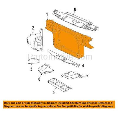 Aftermarket Replacement - RSP-1152 1998-2002 Ford Crown Victoria & Mercury Grand Marquis 4.6L Sedan Front Center Radiator Support Core Assembly Primed Made of Steel - Image 3