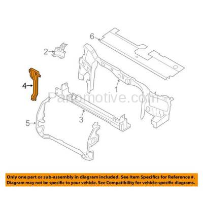 Aftermarket Replacement - RSP-1162 2008-2012 Ford Escape & 2008-2011 Mercury Mariner (2.3 & 2.5 & 3.0 Liter Engine) Front Hood Latch Support Bracket Primed Made of Steel - Image 3