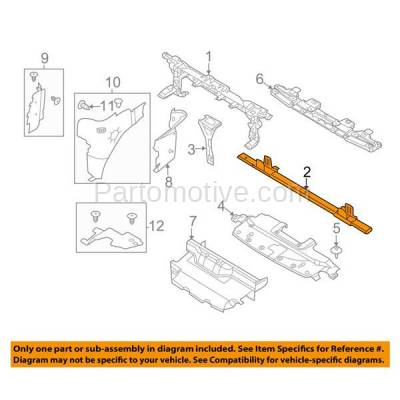 Aftermarket Replacement - RSP-1175 2011-2014 Ford Expedition (5.4 Liter V8 Engine) Front Radiator Support Lower Crossmember Tie Bar Primed Made of Steel - Image 3