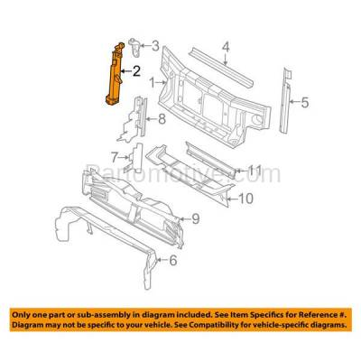 Aftermarket Replacement - RSP-1178R 2007-2010 Ford Explorer & Sport Trac & Mercury Mountaineer Front Radiator Support Core Assembly Bracket Steel Right Passenger Side - Image 3