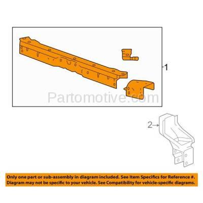 Aftermarket Replacement - RSP-1278C CAPA 2014-2016 Buick LaCrosse (Sedan 4-Door) Front Radiator Support Upper Crossmember Tie Bar Panel Core Assembly Primed Steel - Image 3