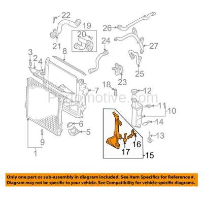 Aftermarket Replacement - RSP-1875 2001-2006 BMW X5 (3.0 Liter V6) (with Automatic Transmission) Front Radiator Support Coolant Reservoir Mount Bracket Made of Plastic - Image 3