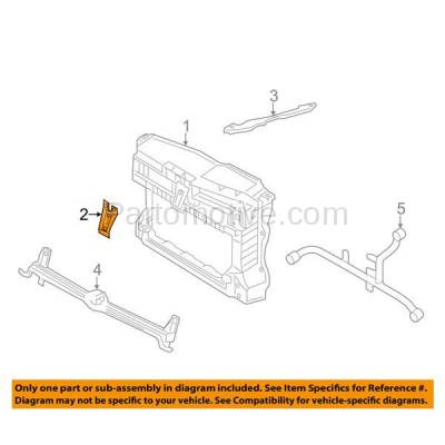 Aftermarket Replacement - RSP-1846 2011-2018 Volkswagen Jetta (without Collision Warning) Front Radiator Support Center Hood Latch Support Bracket Primed Made of Steel - Image 3